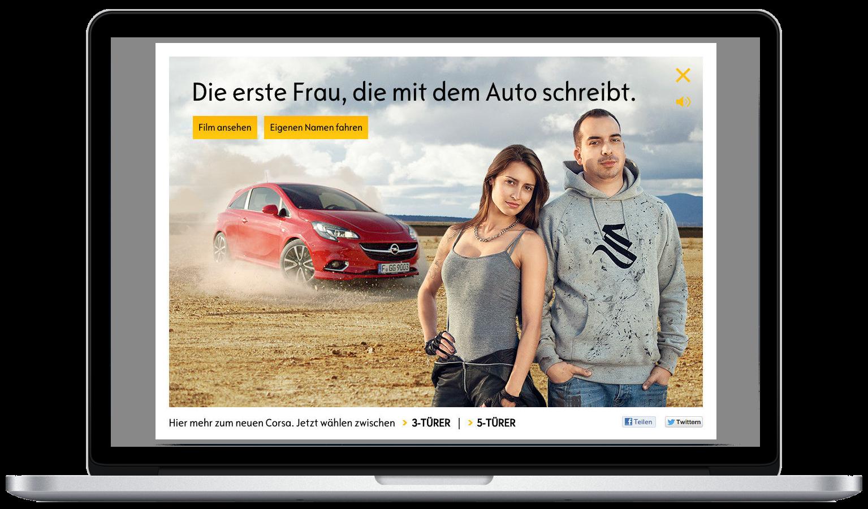 Opel Corsa OH! Microsite